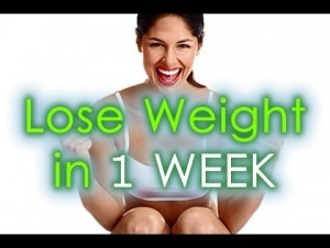 Diet to lose weight 3 kilos in one week